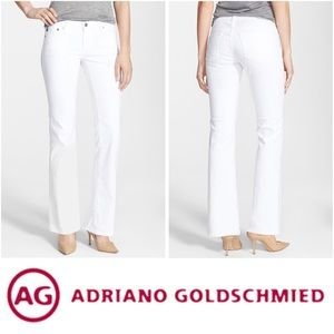 AG The Angelina' Petite Bootcut White Jeans Sz26